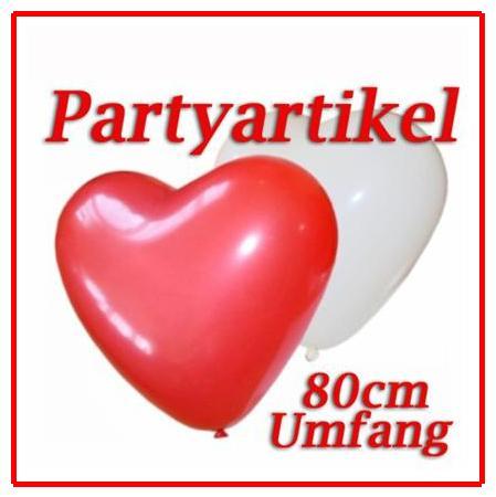 50-Herz-Luft-ballons-Hochzeits-Dekoration-Party-DER-KLASSIKER-Feierlich-Festlich