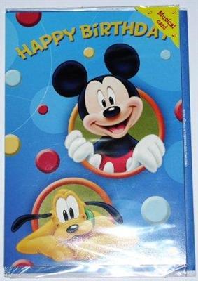geburtstagskarte mit musik happy birthday mickey maus kinder geburtstag ebay. Black Bedroom Furniture Sets. Home Design Ideas