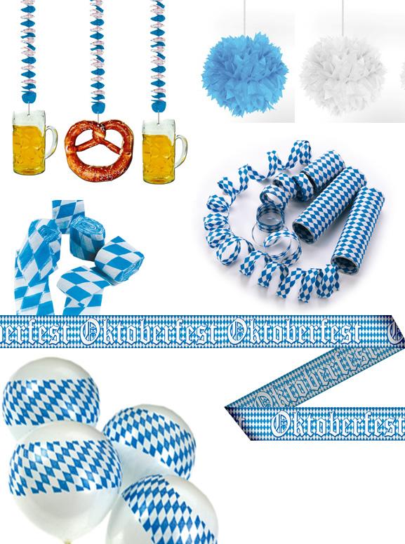 Oktoberfest dekoration bayrische raute bavaria blau weiss for Bayrische dekoration