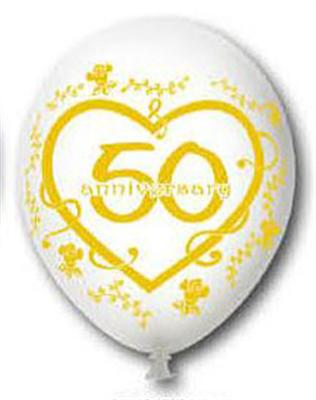 15 bedruckte luftballons zahl 50 goldene hochzeit for Goldene hochzeit dekoration