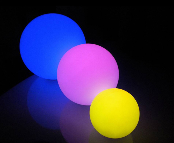 led leuchtkugel leuchtkugeln ball kugelleuchte glaskugel beleuchtet 16 farben ebay. Black Bedroom Furniture Sets. Home Design Ideas