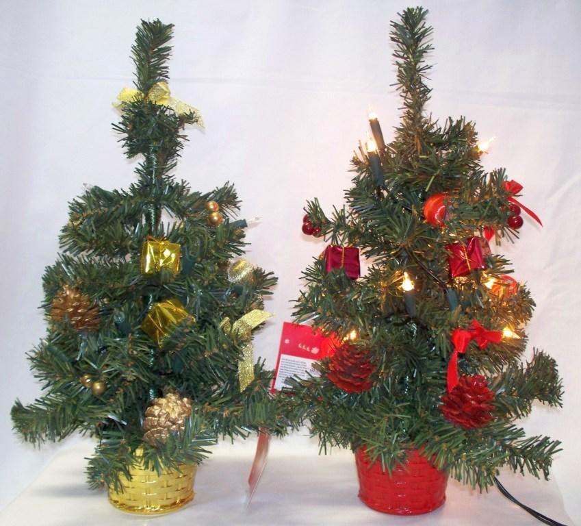 mini weihnachtsbaum christbaum mit beleuchtung rot oder. Black Bedroom Furniture Sets. Home Design Ideas