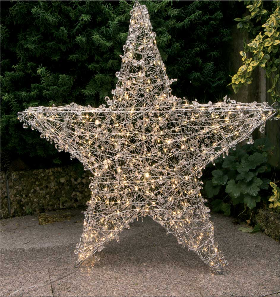 led stern weihnachtsstern f r au en 78cm kristalle in klar oder kupfer top ebay. Black Bedroom Furniture Sets. Home Design Ideas