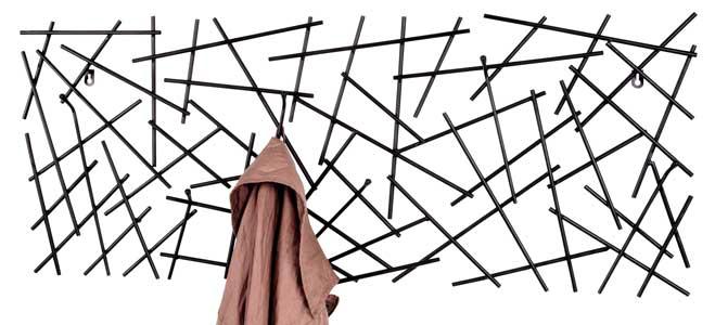 Wandgarderobe garderobe 6 haken metall schwarz anthrazit for Haushaltsartikel auf rechnung