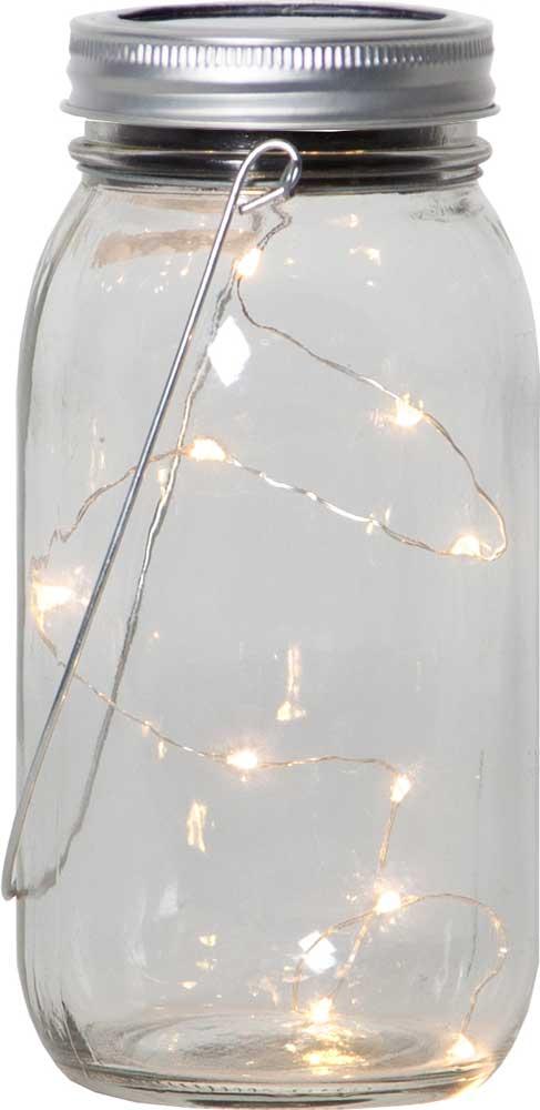 led solar glas mit aufh nger 10 leds lichterkette 8x18cm tischdeko gartendeko ebay. Black Bedroom Furniture Sets. Home Design Ideas