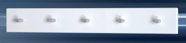 Wandgarderobe garderobenleiste hochglanz wei chrom 57x8 cm for Haushaltsartikel auf rechnung