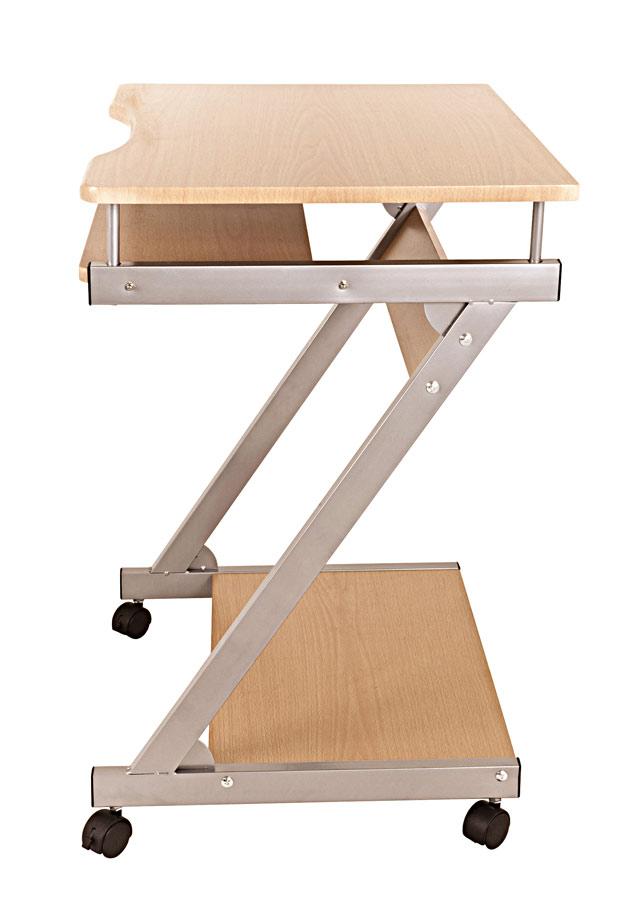 computertisch computerwagen pc tisch rollen buche dekor preisknaller ebay. Black Bedroom Furniture Sets. Home Design Ideas