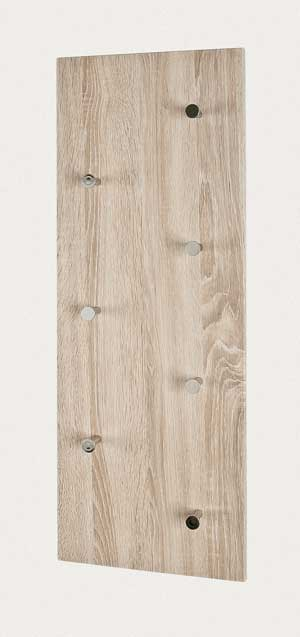 wandgarderobe garderobe sonoma eiche 7 haken 80x30 cm. Black Bedroom Furniture Sets. Home Design Ideas