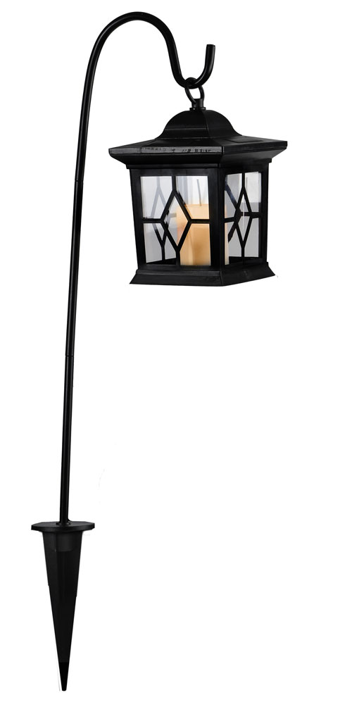 led solar laterne solarlampe garten m stab amber kerze flackerlicht grablicht ebay. Black Bedroom Furniture Sets. Home Design Ideas