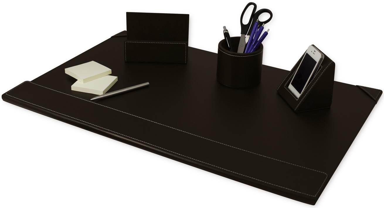 schreibtisch set b roset pu leder braun 4 tlg pavo unterlage f r schreibtisch ebay. Black Bedroom Furniture Sets. Home Design Ideas