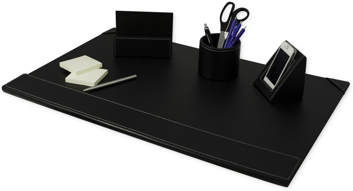b roset pu leder schwarz 4 tlg pavo schreibtisch set. Black Bedroom Furniture Sets. Home Design Ideas