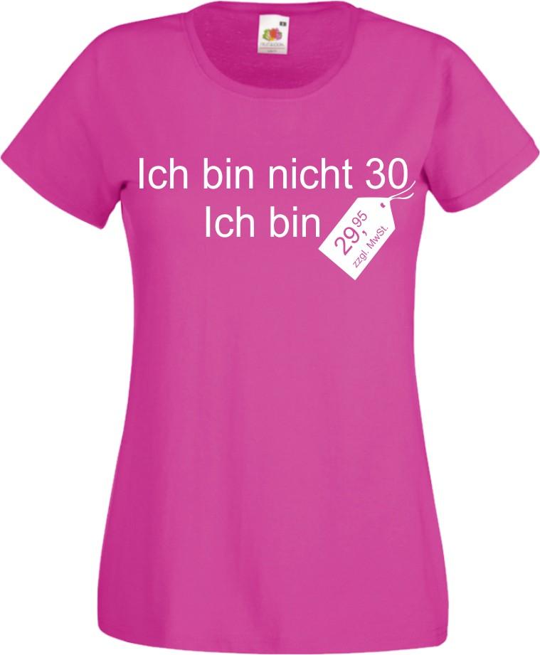 damen t shirt zum 30 ten geburtstag witzig fun geschenk cooles lady shirt neu ebay. Black Bedroom Furniture Sets. Home Design Ideas