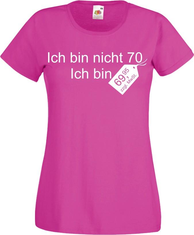 Damen t shirt zum 70 ten geburtstag witzig fun geschenk for Geschenke zum 70 geburtstag vater