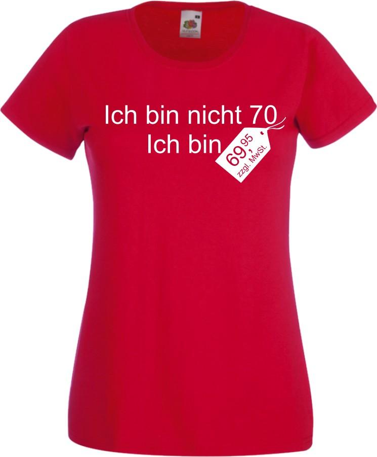 Damen t shirt zum 70 ten geburtstag witzig fun geschenk cooles lady shirt neu ebay - 70 geburtstag geschenk selbstgemacht ...