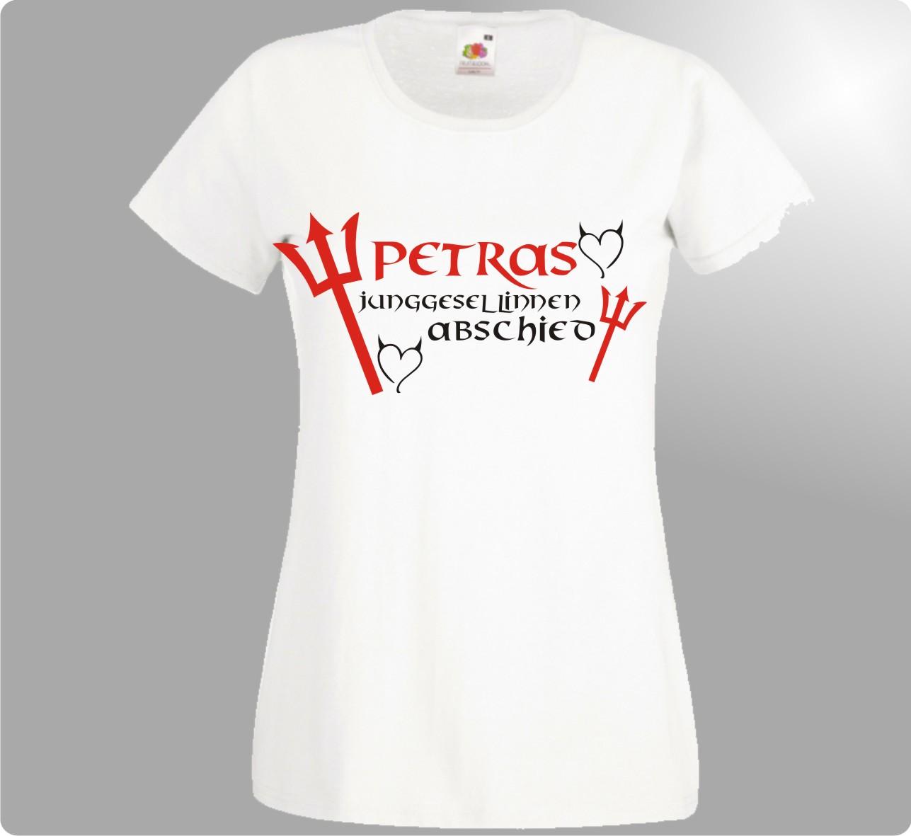 Jga t shirt fur ladies junggesellinnenabschied teuflisch for Jga t shirt sprüche