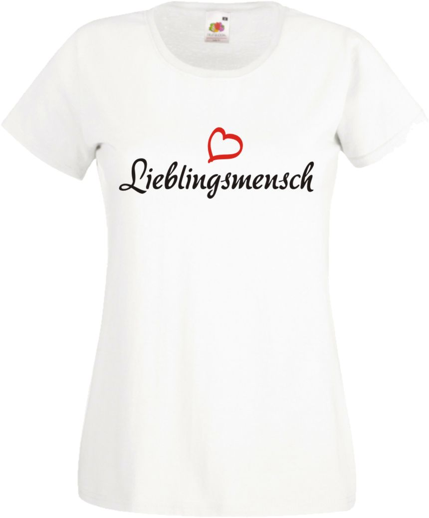 Lieblingsmensch Damen T-Shirt Geschenk VALENTINSTAG Freundin Mama ...