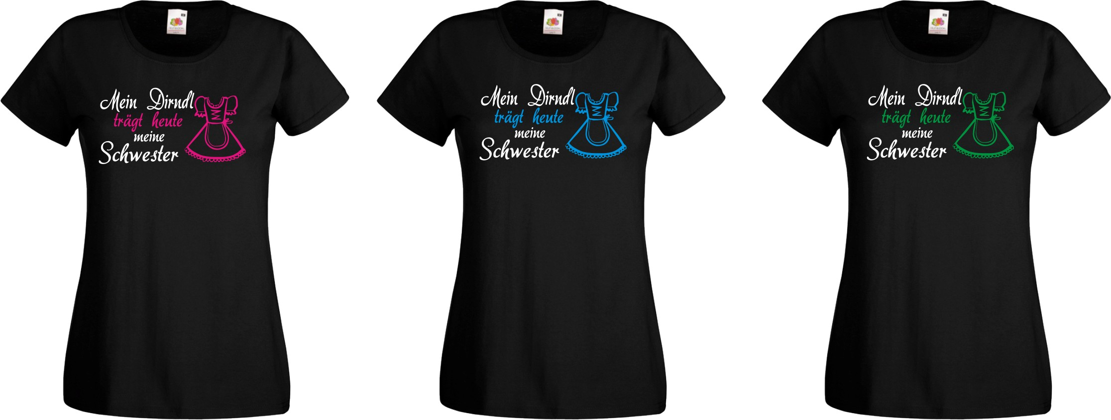 mein dirndl tr gt heute damen t shirt oktoberfest wiesn. Black Bedroom Furniture Sets. Home Design Ideas