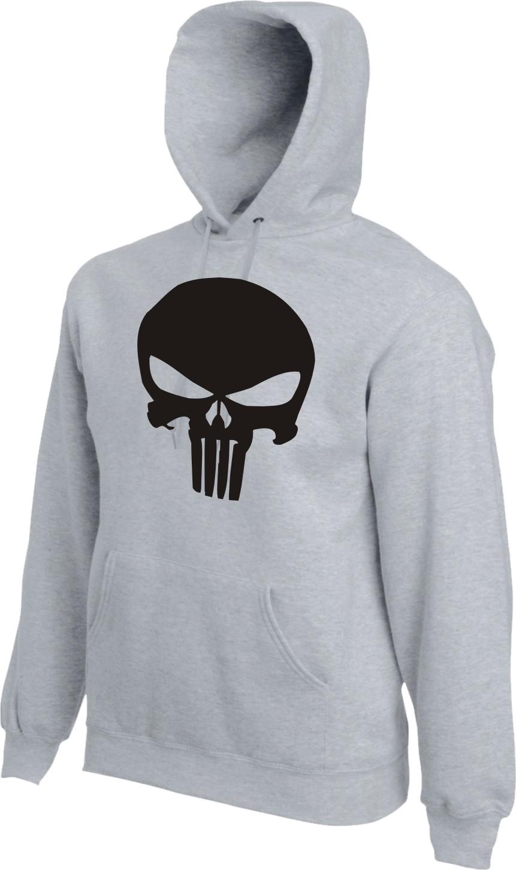 THE PUNISHER Hoodie Kapuzensweater Kult Film Castle Saint Sweatshirt Skull