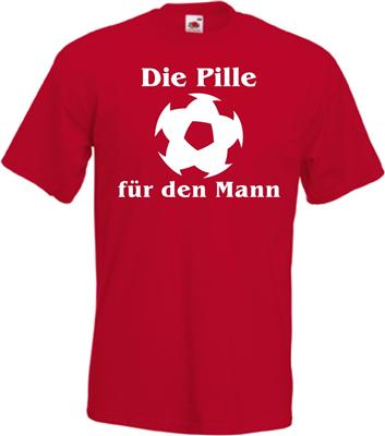 fun fussball t shirt die pille f r den mann fussi lustig. Black Bedroom Furniture Sets. Home Design Ideas