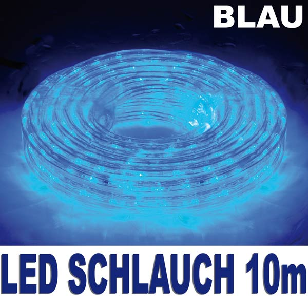 360er led lichtschlauch lichterschlauch 10m 13mm blau au en innen lichterkette ebay. Black Bedroom Furniture Sets. Home Design Ideas