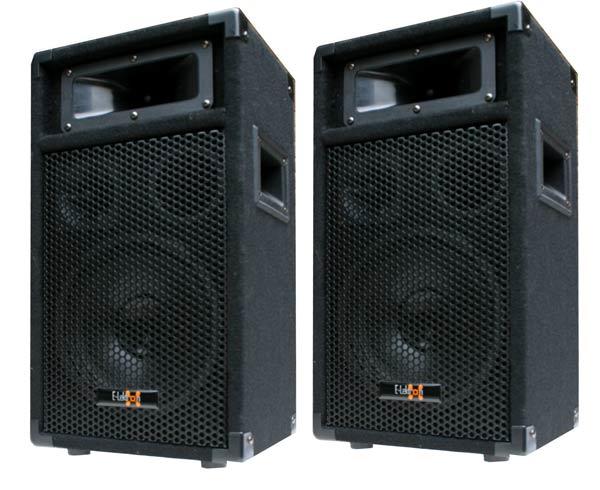2x 400w dj pa party lautsprecher paar disco boxen 20cm 8. Black Bedroom Furniture Sets. Home Design Ideas
