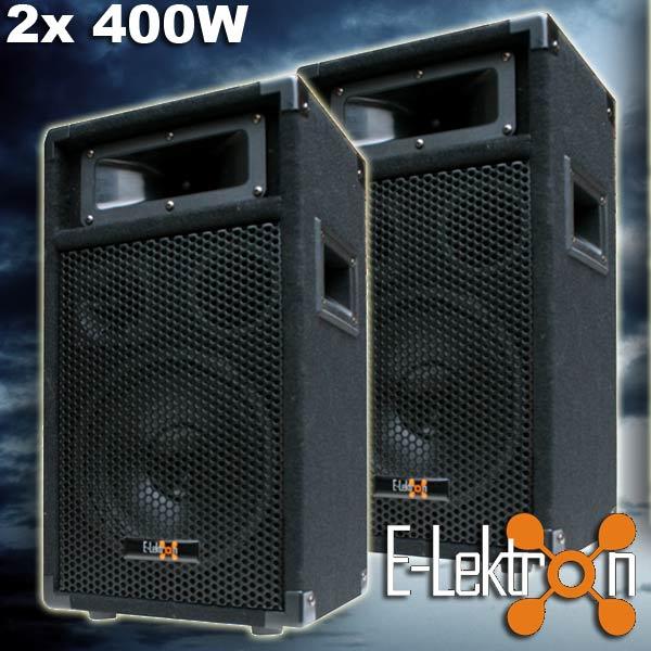 2x-400W-DJ-PA-PARTY-LAUTSPRECHER-PAAR-Disco-Boxen-20cm-8-Bass-PW20-NEU
