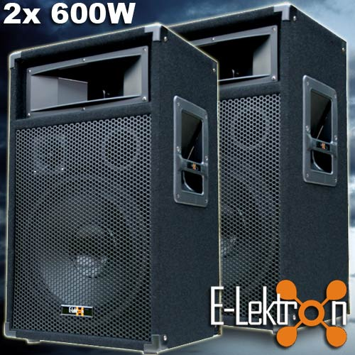 2x-600-Watt-DJ-PA-LAUTSPRECHER-Disco-PARTY-Boxen-30cm-12-Subwoofer-Bass-NEU