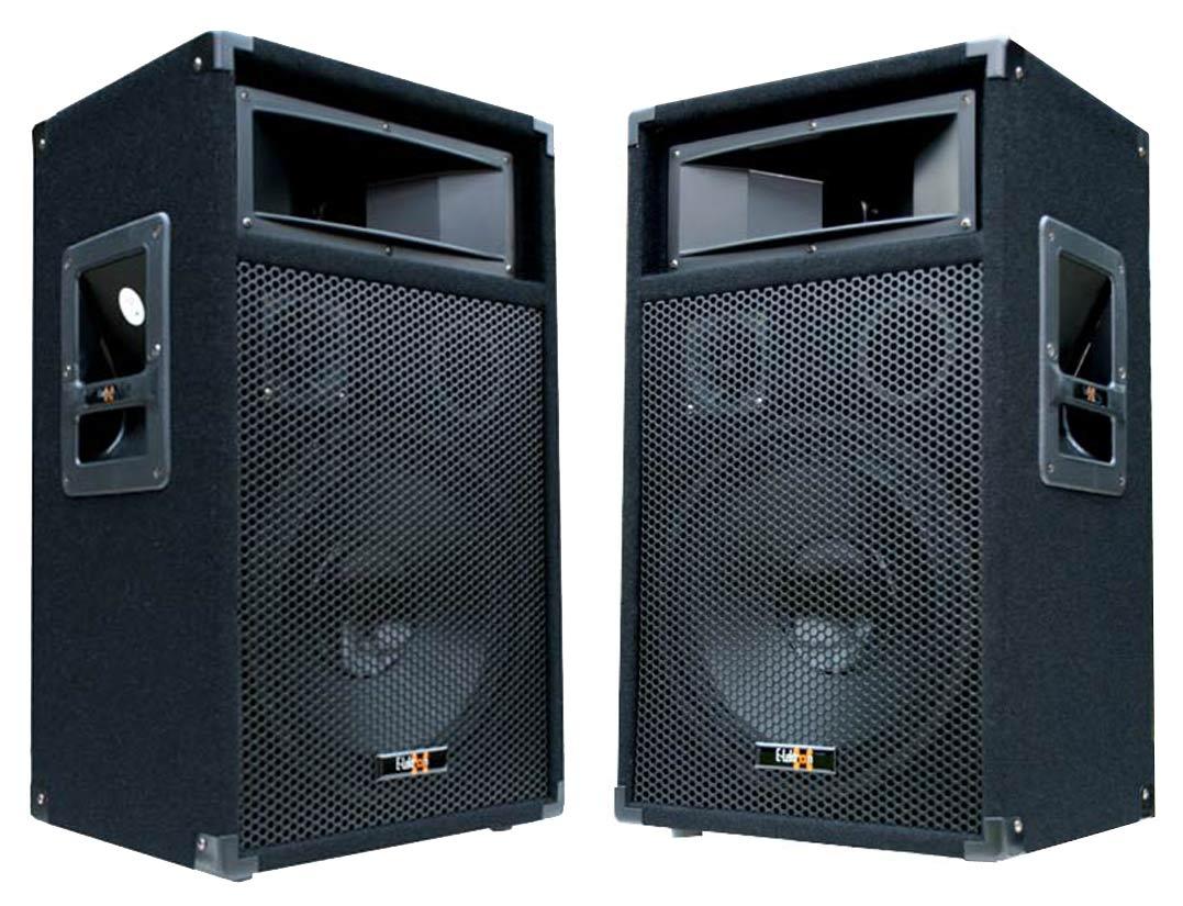 2x 600 watt dj pa lautsprecher disco party boxen 30cm 12 subwoofer bass neu. Black Bedroom Furniture Sets. Home Design Ideas