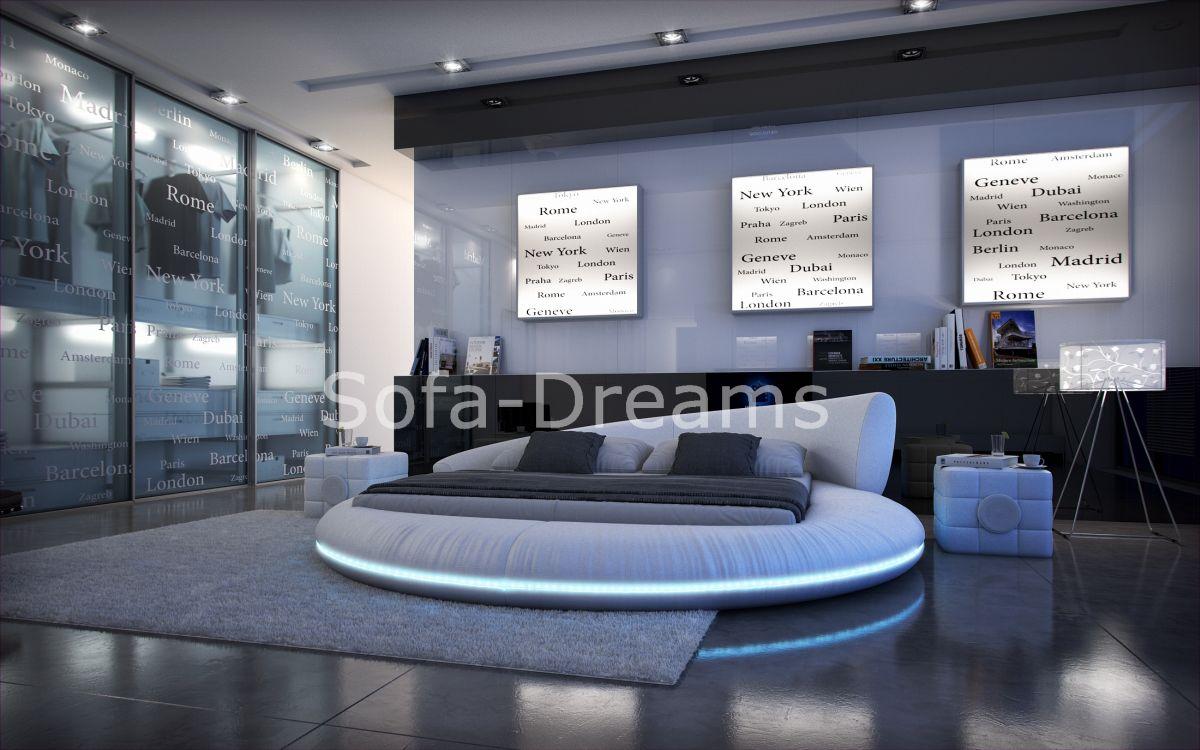 Rundbett mezzo design polsterbett futon designerbett sofort!!!    ...