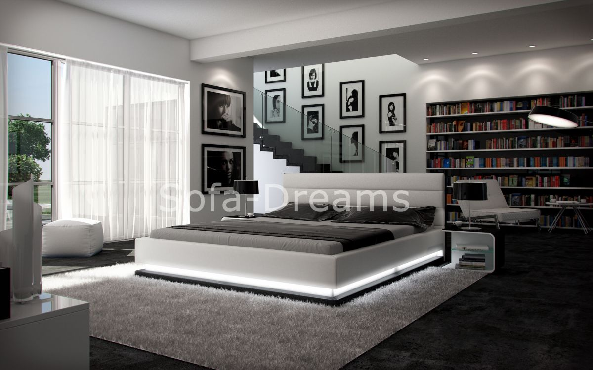 wasserbett moonlight mit beleuchtung komplettset dualsystem. Black Bedroom Furniture Sets. Home Design Ideas