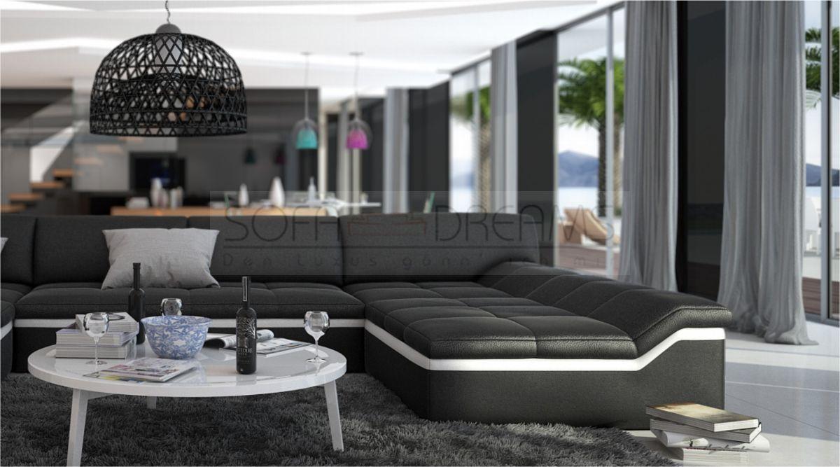 moderne wohnlandschaft barari u form sofa design couch relaxsofa kaufen bei. Black Bedroom Furniture Sets. Home Design Ideas