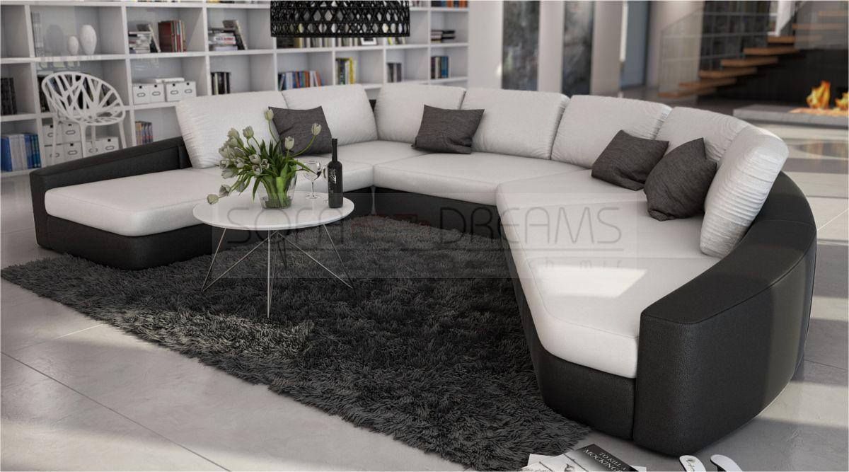 loungesofa rundsofa rina ecksofa design sofa eckcouch relaxsofa kaufen bei. Black Bedroom Furniture Sets. Home Design Ideas