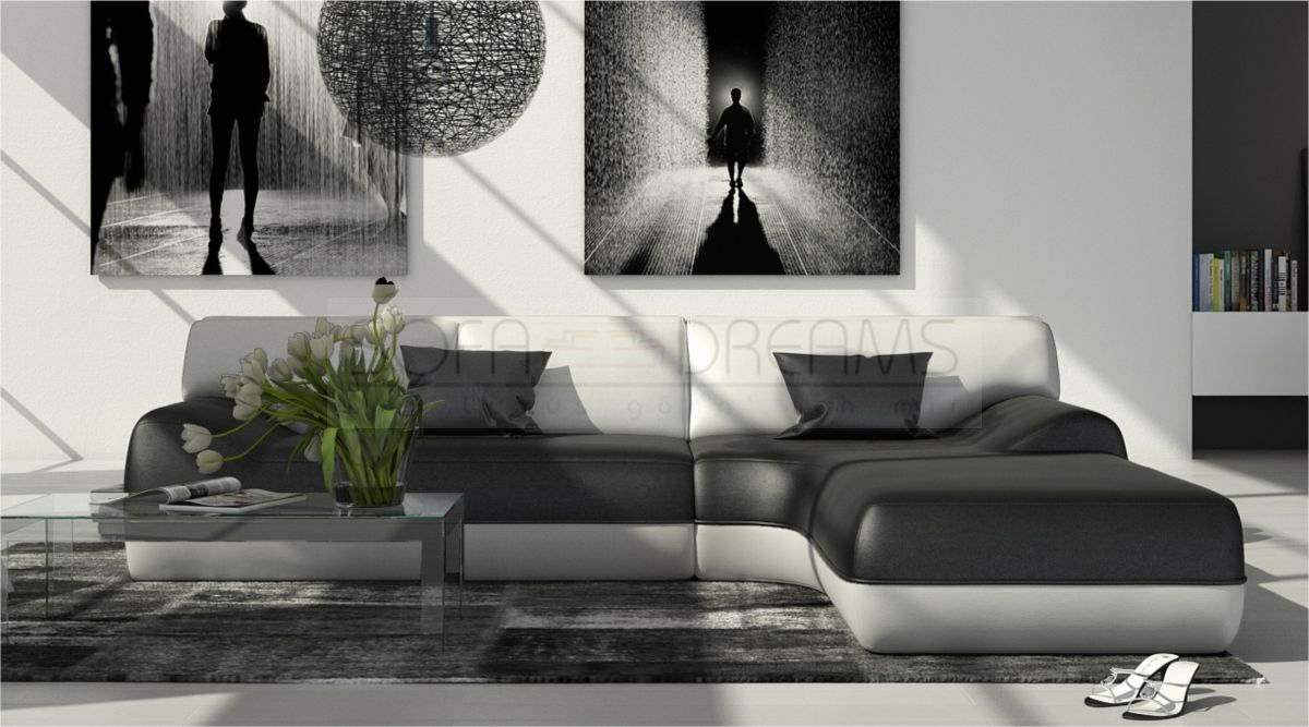 ledersofa vida l form ecksofa designer couch eckcouch relaxsofa ebay. Black Bedroom Furniture Sets. Home Design Ideas