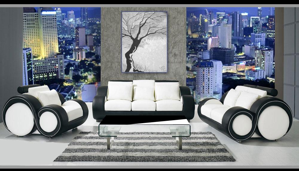 sofagarnitur ledersofa sofa sessel 3 2 1 sitzer berlin ebay. Black Bedroom Furniture Sets. Home Design Ideas