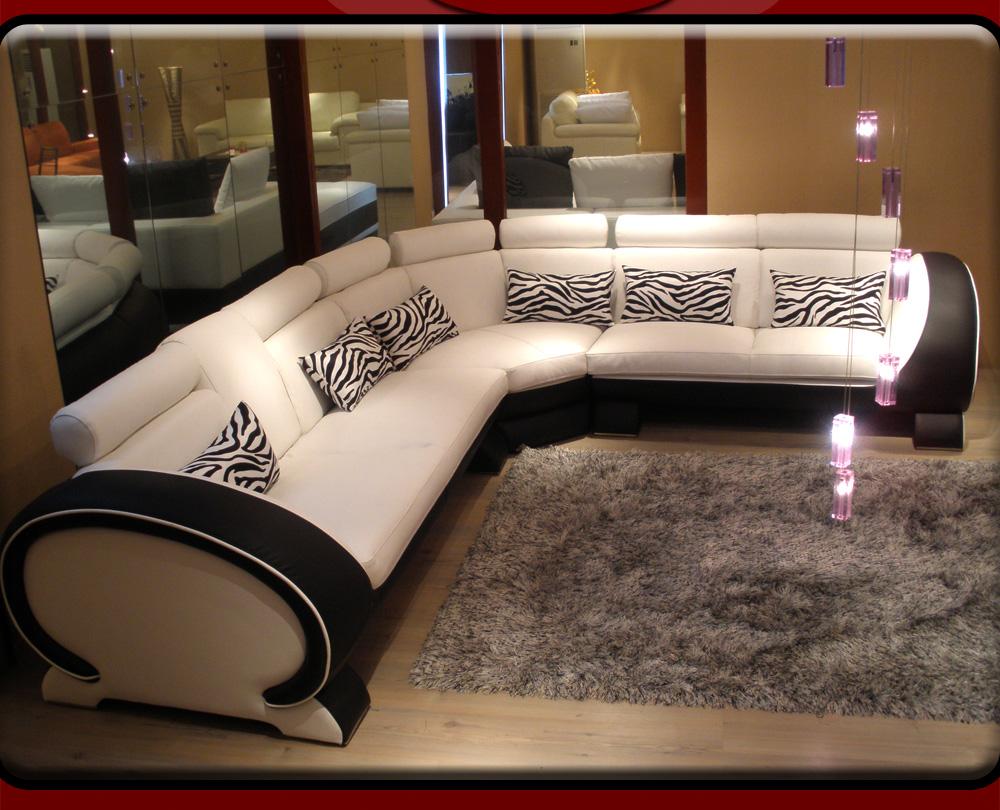 details about ledersofa ecksofa sofagarnitur sofa ecksofagarnitu r neu. Black Bedroom Furniture Sets. Home Design Ideas