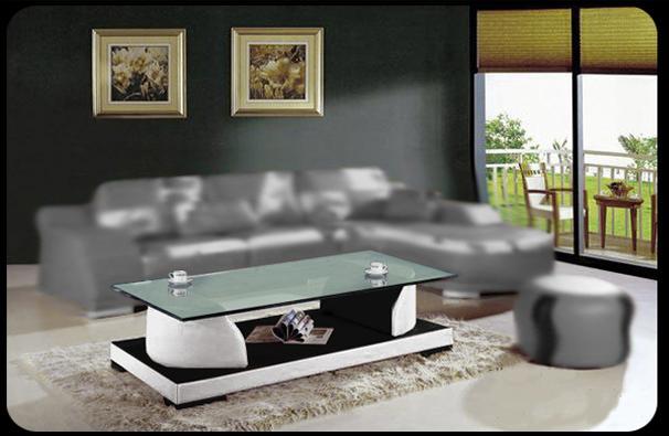 Design glastisch glas tisch couchtisch f3363 leder neu ebay for Design glastisch couchtisch