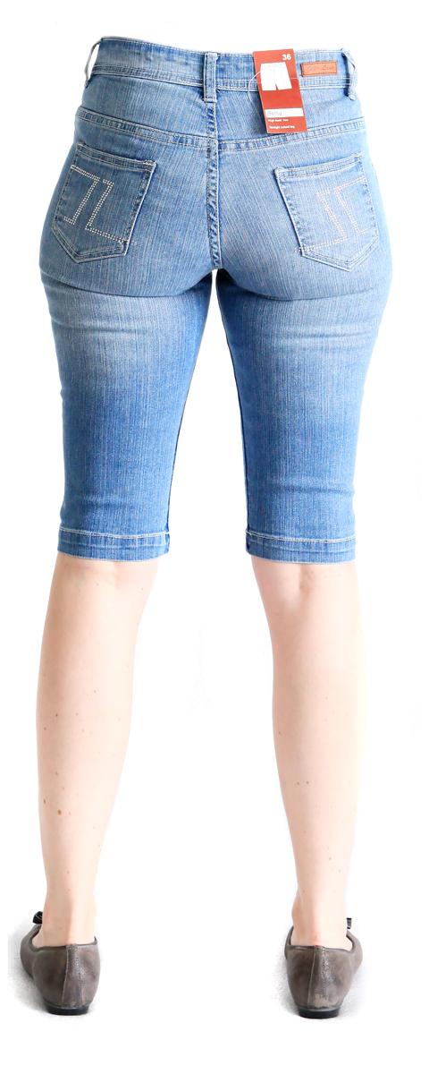 damen jeans kurz betty bermuda fb blue stone washed ebay. Black Bedroom Furniture Sets. Home Design Ideas