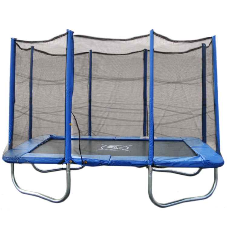 trampolin set blau 310x215cm rechteckig netz garten ebay. Black Bedroom Furniture Sets. Home Design Ideas