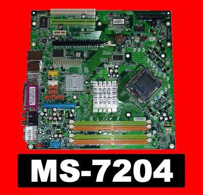 [ MSI / MS-7204 Mainboard ] für den Medion MD 8800 PC, mBTX Sockel 775 micro BTX