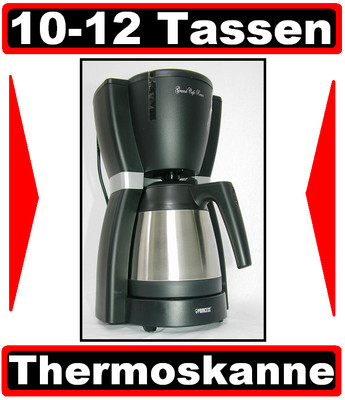 kaffeemaschine mit edelstahl thermoskanne f r filter kaffee thermo kanne neu ebay. Black Bedroom Furniture Sets. Home Design Ideas