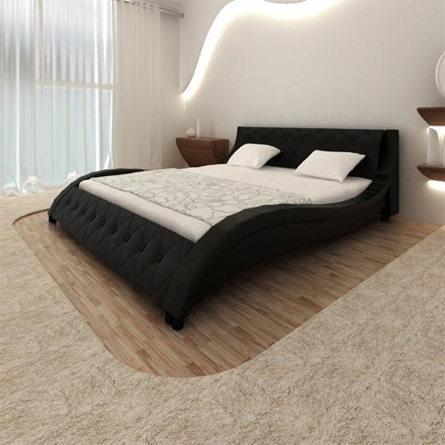 modernes doppelbett polsterbett bettgestell bett lattenrost bettrahmen ebay. Black Bedroom Furniture Sets. Home Design Ideas