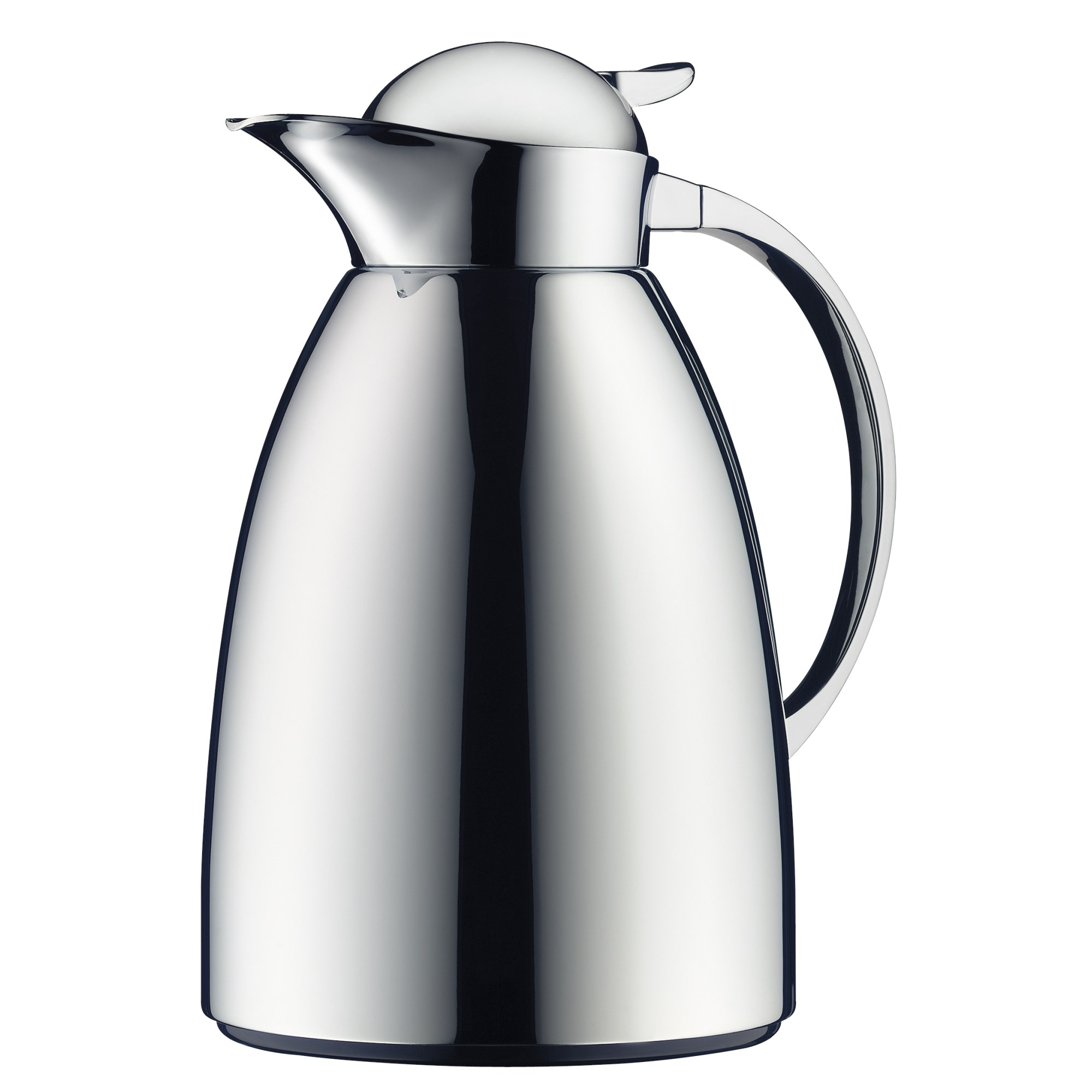 alfi isolierkanne albergo tea 1 0 liter mit teefilter metall verchromt ebay. Black Bedroom Furniture Sets. Home Design Ideas