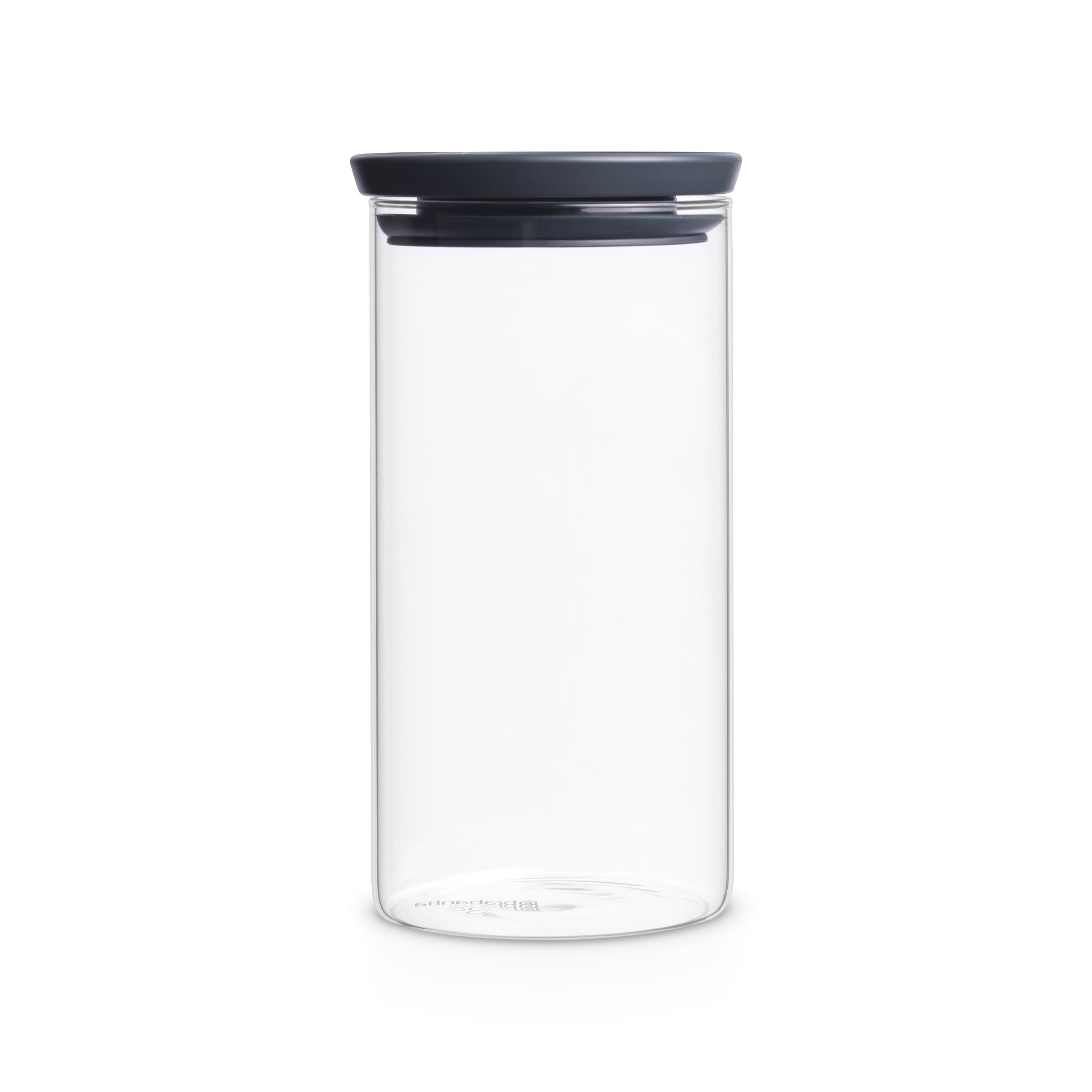 brabantia vorratsglas 1 1 liter stapelbar mit grauem deckel ebay. Black Bedroom Furniture Sets. Home Design Ideas