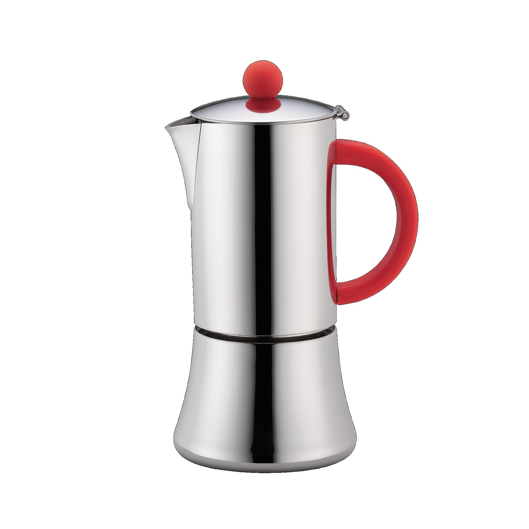cilio espressokocher tiziano rot 6 tassen edelstahl induktion ebay. Black Bedroom Furniture Sets. Home Design Ideas