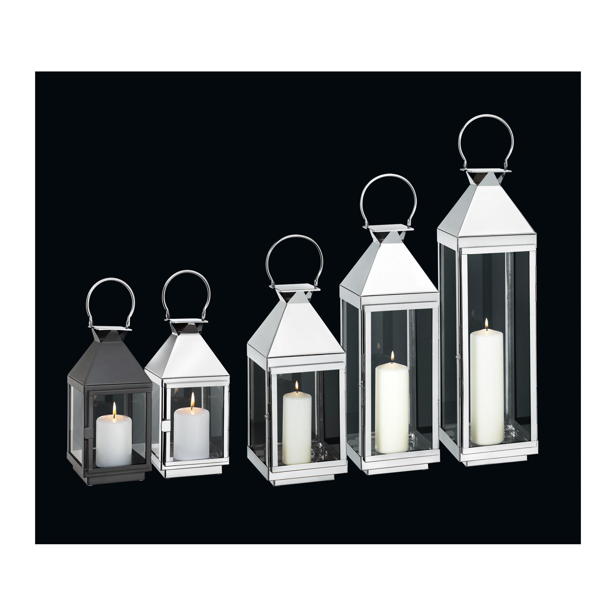 cilio edelstahl laterne villa 16 x 16 x 70 cm ebay. Black Bedroom Furniture Sets. Home Design Ideas