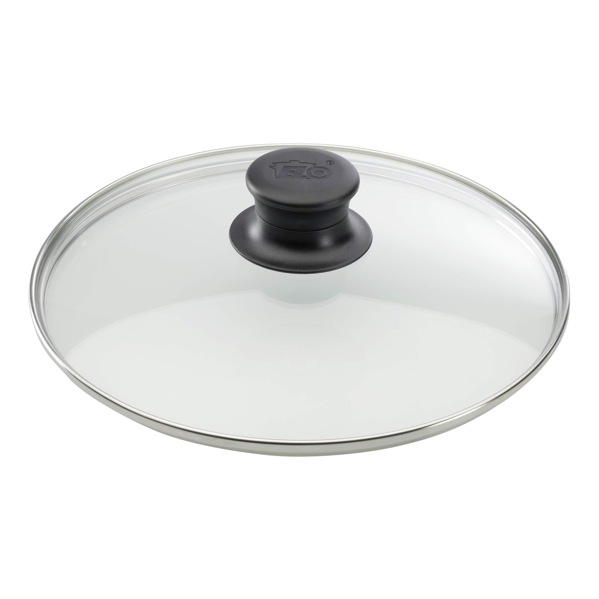 Elo glasdeckel mit edelstahlrand kunststoffknopf 32 cm for Pfannendeckel 30 cm
