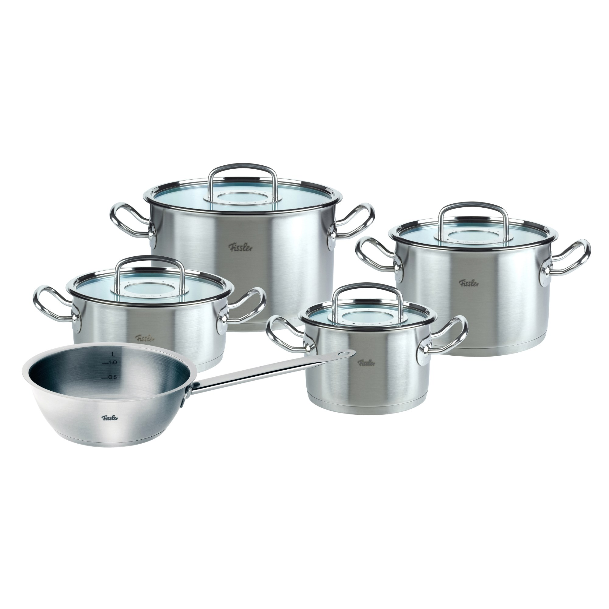 fissler topf set original profi collection 5 teilig mit glasdeckel. Black Bedroom Furniture Sets. Home Design Ideas