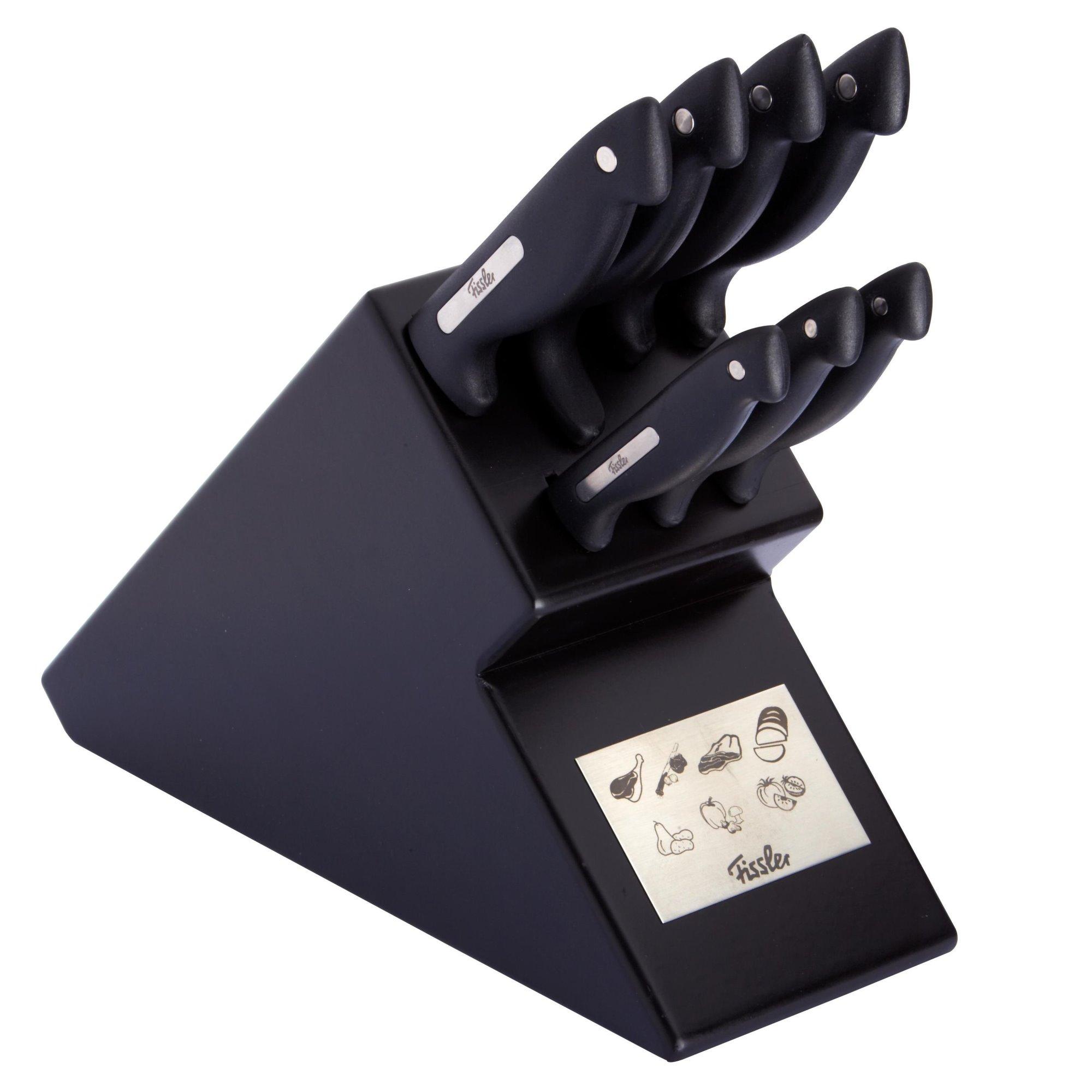 fissler messerblock signum 8 teilig messerset schwarz ebay. Black Bedroom Furniture Sets. Home Design Ideas