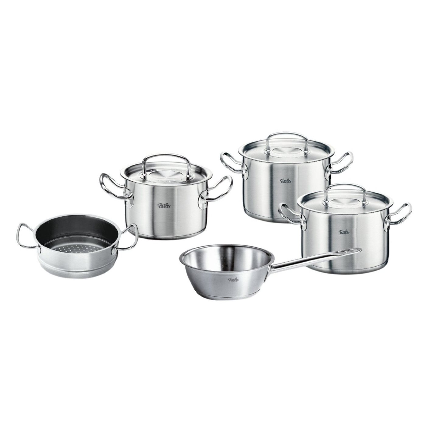 fissler original profi collection topfset 5 teilig mit d mpfeinsatz und sauteuse ebay. Black Bedroom Furniture Sets. Home Design Ideas