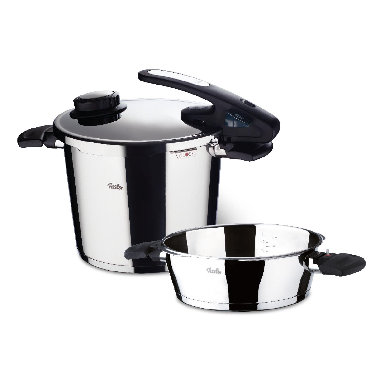 fissler schnellkochtopf vitavit edition 6 0 2 5 liter im set ebay. Black Bedroom Furniture Sets. Home Design Ideas